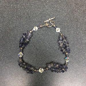 Jewelry - Purple semi precious stone bracelet